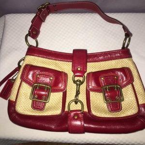 COACH LEGACY HOBO SHOULDER BAG IN RUBY RED